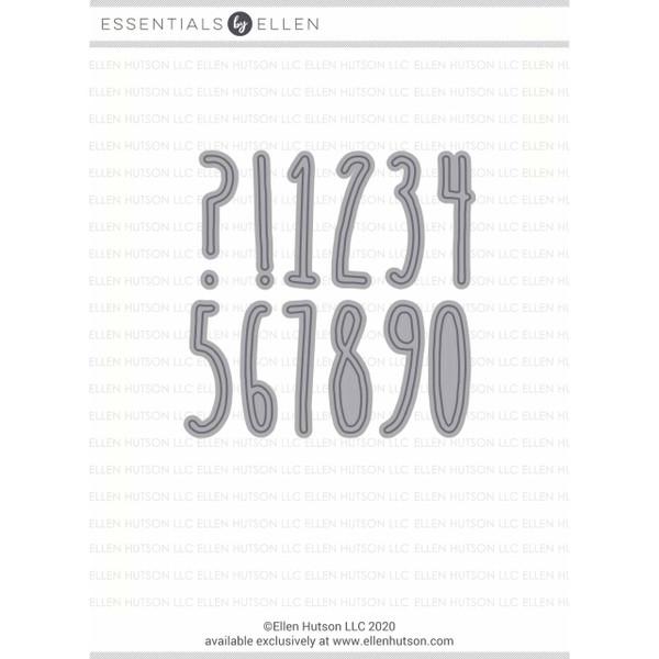 Tall n Skinny Numbers by Julie Ebersole, Essentials by Ellen Designer Dies -