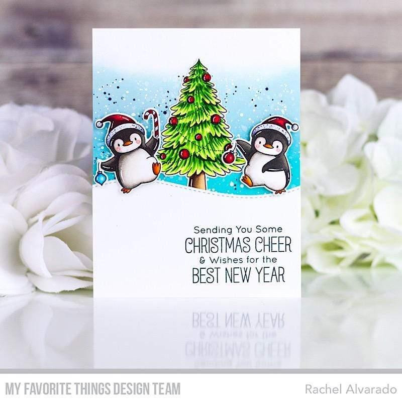 Holiday Penguins by Birdie Brown, My Favorite Things Clear Stamps - 849923037096