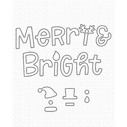 Merry and Bright with All the Trimmings, My Favorite Things Die-Namics - 849923037362