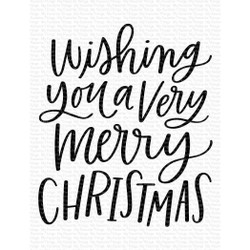 Wishing You a Very Merry Christmas, My Favorite Things Clear Stamps - 849923037164