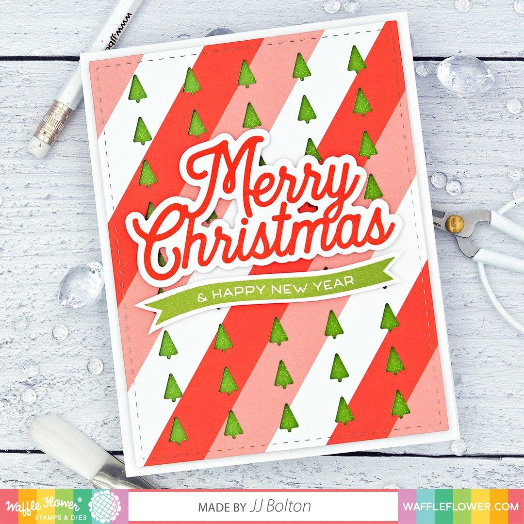 Merry Christmas Sentiments, Waffle Flower Clear Stamps - 780348639789