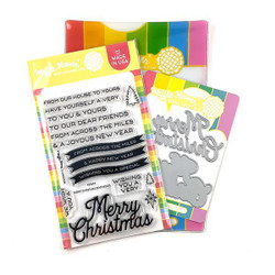 Merry Christmas, Waffle Flower Stamp & Die Combo - 780348639796