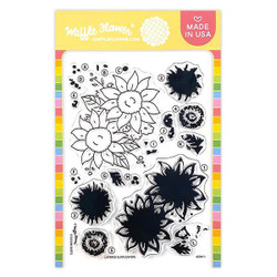 Layered Sunflowers, Waffle Flower Clear Stamps - 780348639697