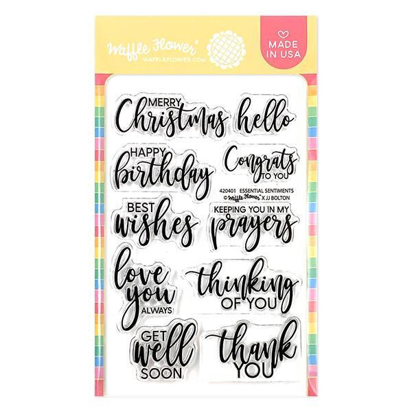 Essential Sentiments, Waffle Flower Clear Stamps - 780348639734