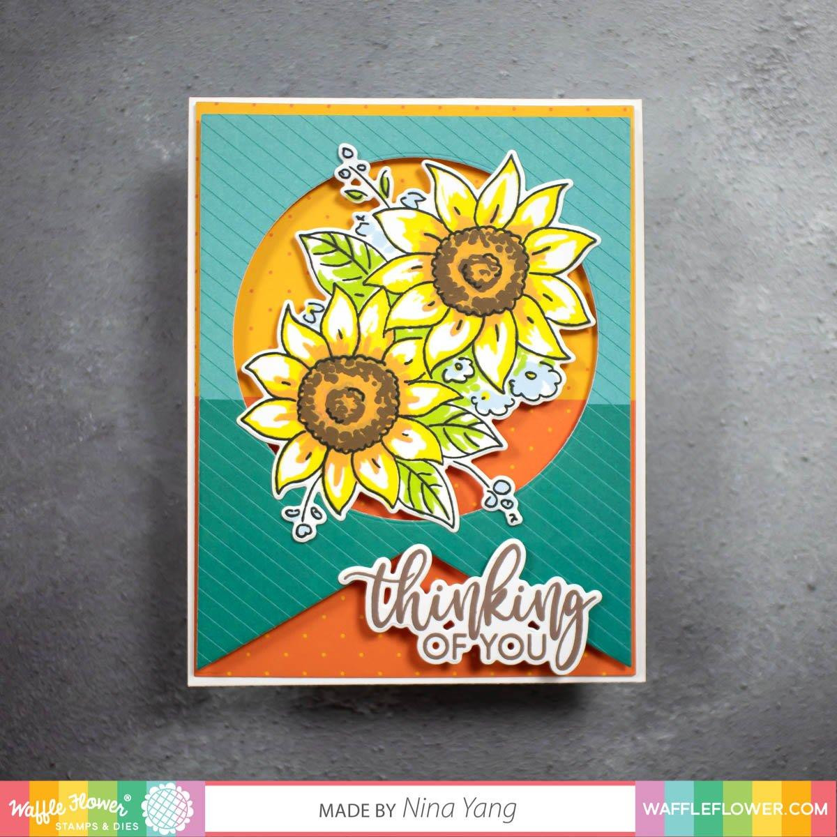 Essential Sentiments, Waffle Flower Stamp & Die Combo - 780348639772
