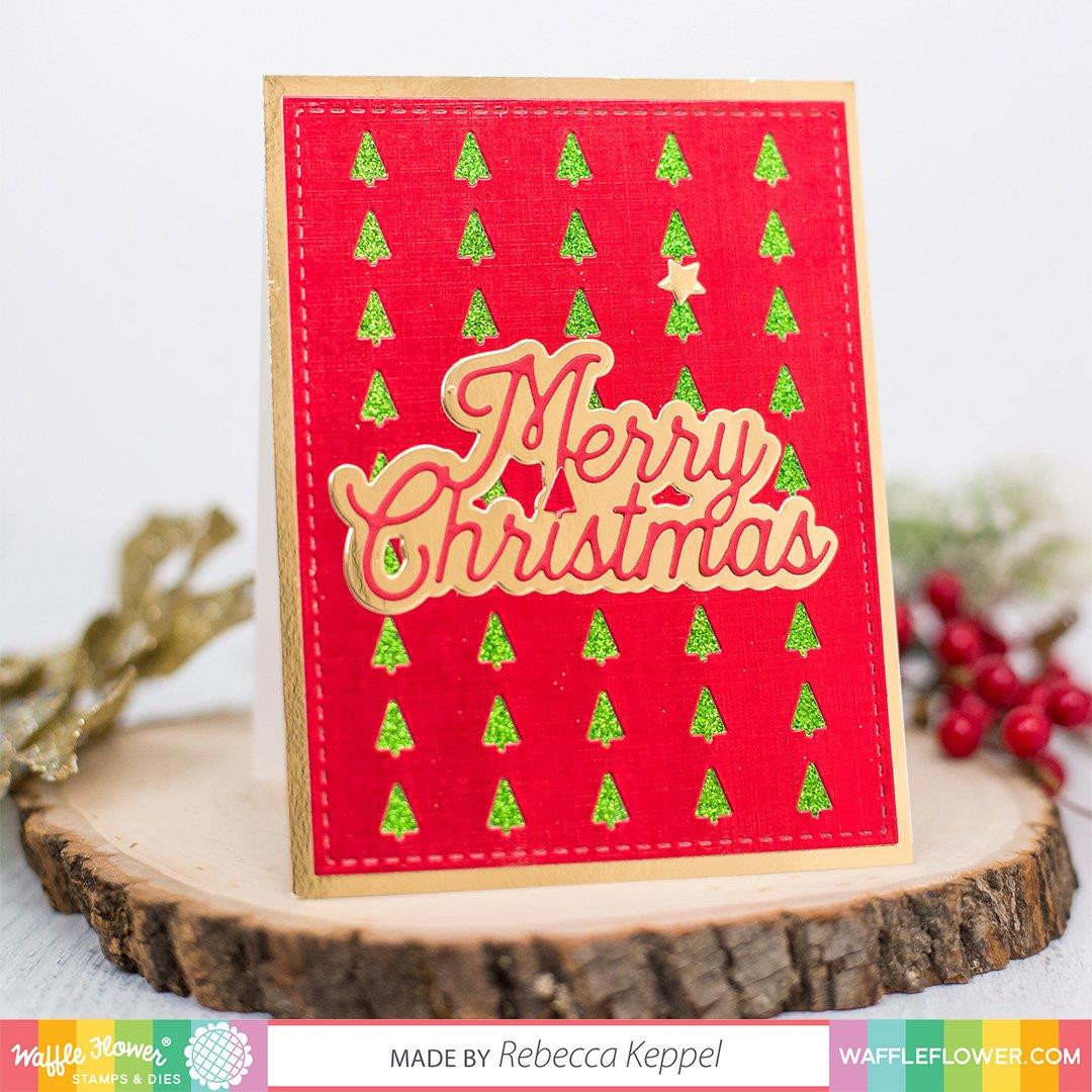 Christmas Tree Panel, Waffle Flower Dies - 780348639598