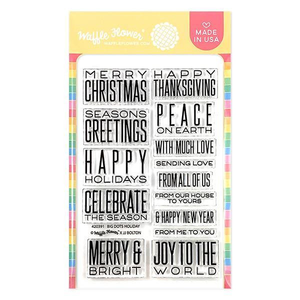 Big Dots Holiday, Waffle Flower Clear Stamps - 780348639727