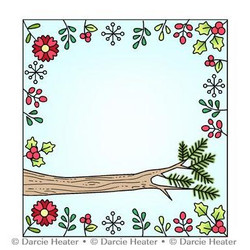 Woodland Perch, Darcie's Clear Stamps -