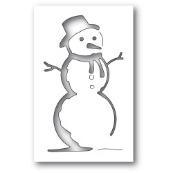 Charming Snowman Collage, Memory Box Dies - 873980944981