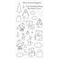 Fox and Friends, My Favorite Things Clear Stamps - 849923037256