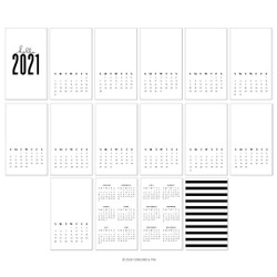 2021 Calendar, Concord & 9th Preprinted Calendar - 717932698037