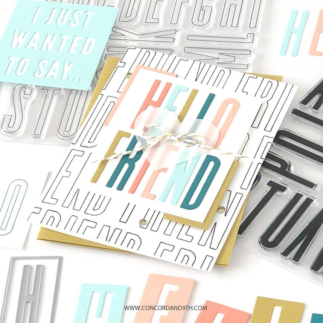 All the Letters Outline, Concord & 9th Clear Stamps - 717932698051