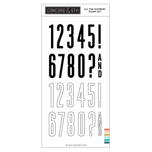 All the Numbers, Concord & 9th Clear Stamps - 717932698082