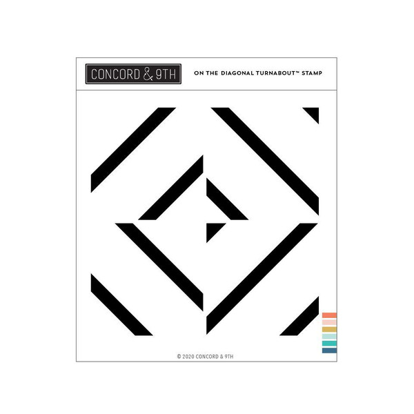 On the Diagonal Turnabout, Concord & 9th Clear Stamps - 717932698143