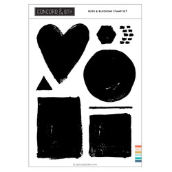 Painted Shapes, Concord & 9th Clear Stamps - 717932698150