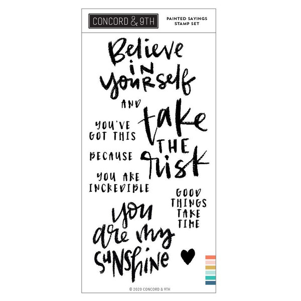 Painted Sayings, Concord & 9th Clear Stamps - 717932698167