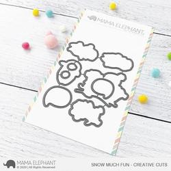 Snow Much Fun, Mama Elephant Creative Cuts -