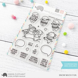 Snow Much Fun, Mama Elephant Clear Stamps -