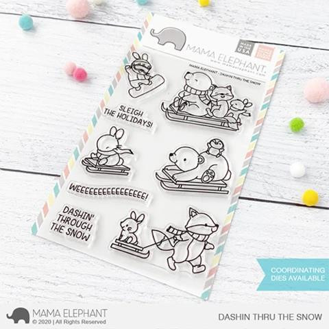 Dashing Thru The Snow, Mama Elephant Clear Stamps -