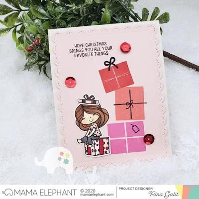Colorblock Gifts, Mama Elephant Clear Stamps -