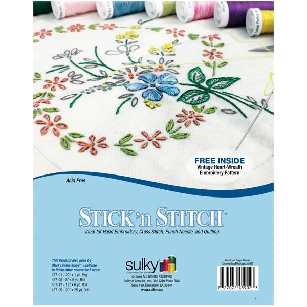 """Stick 'n Stitch, Sulky 8 1/2"""" x 11"""" - 12 Printable Sheets - 727072459023"""