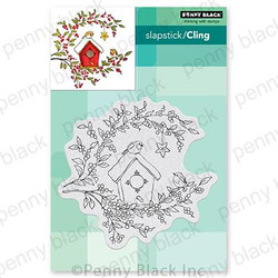 Birdhouse Blessings, Penny Black Cling Stamps - 759668407637