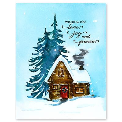 Cozy Cabin, Penny Black Cling Stamps - 759668407606