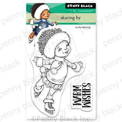 Skating By, Penny Black Clear Stamps - 759668307777
