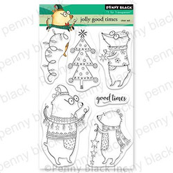 Jolly Good Times, Penny Black Clear Stamps - 759668307654