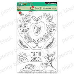 {Heart} Christmas, Penny Black Clear Stamps - 759668307593