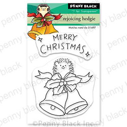 Rejoicing Hedgie, Penny Black Clear Stamps - 759668307494