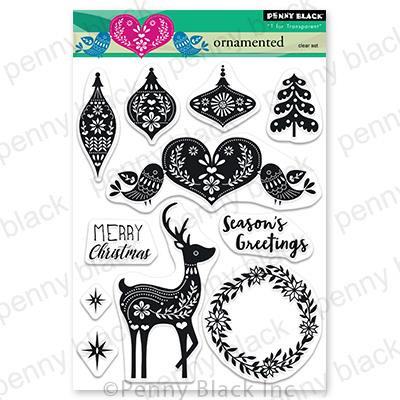 Ornamented, Penny Black Clear Stamps - 759668307470