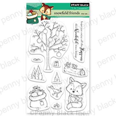 Snowfield Friends, Penny Black Clear Stamps - 759668307456