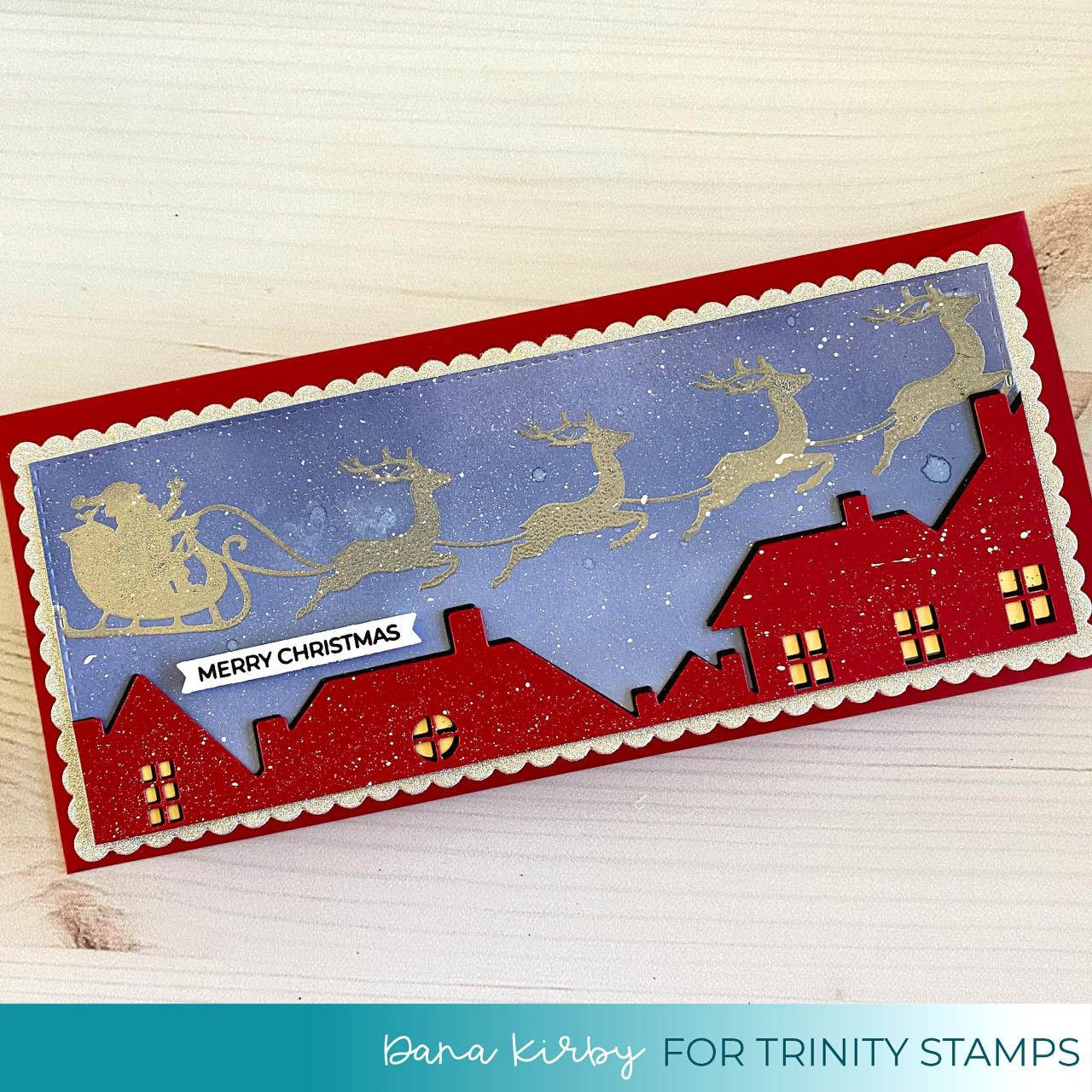Slimline Christmas Magic, Trinity Stamps Clear Stamps -