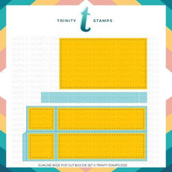 Slimline Wide Box Card, Trinity Stamps Dies -