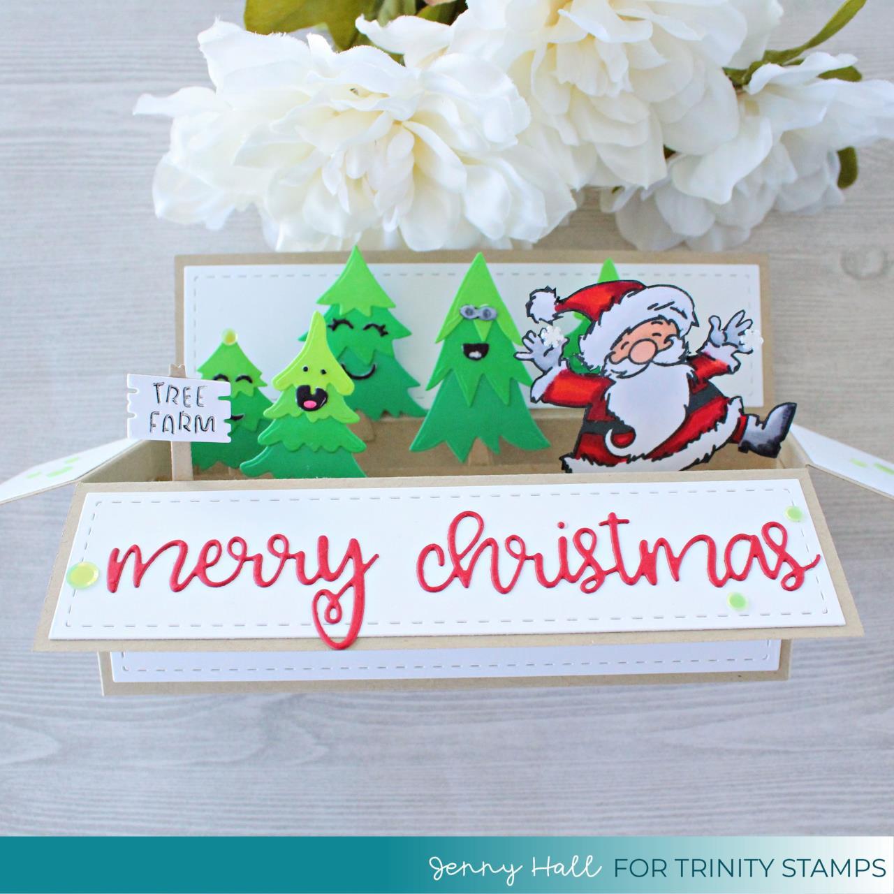 Slimline Wide Box Card, Trinity Stamps Dies -