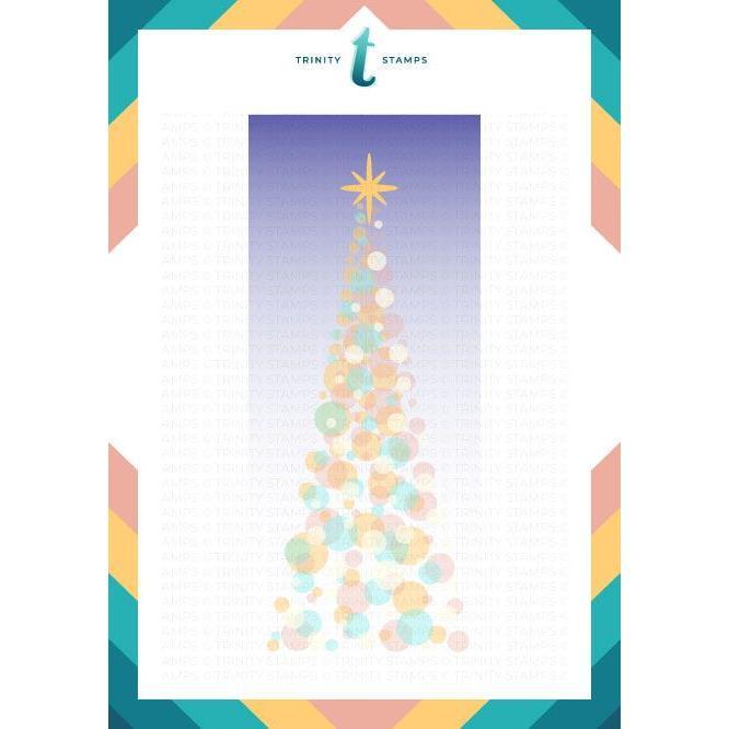 Slimline Tree of Light Layering, Trinity Stamps Stencils -