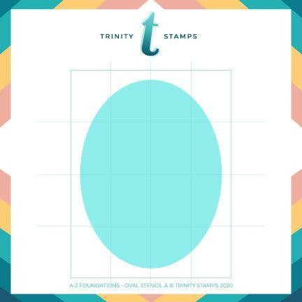 A2 Foundations: Oval Set of 4, Trinity Stamps Stencils -