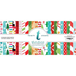 Slimline Series: Holiday Trimmings, Trinity Stamps Patterned Paper -