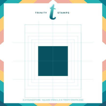 A2 Foundations: Square Set of 4, Trinity Stamps Stencils -