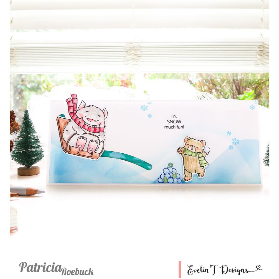Baby, It's Cold Outside, Evelin T Designs Clear Stamps - 725330030069