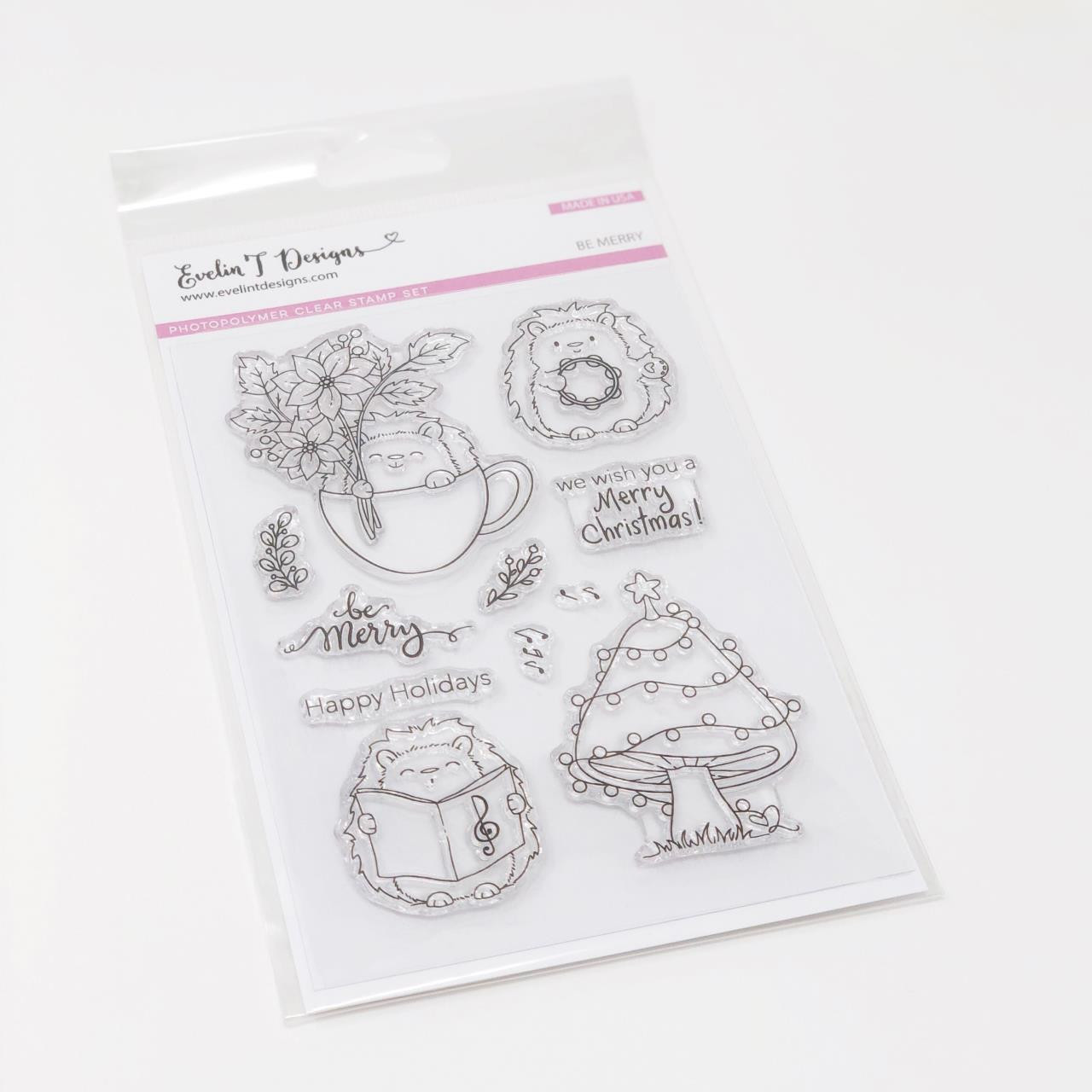 Be Merry, Evelin T Designs Clear Stamps - 725330030076