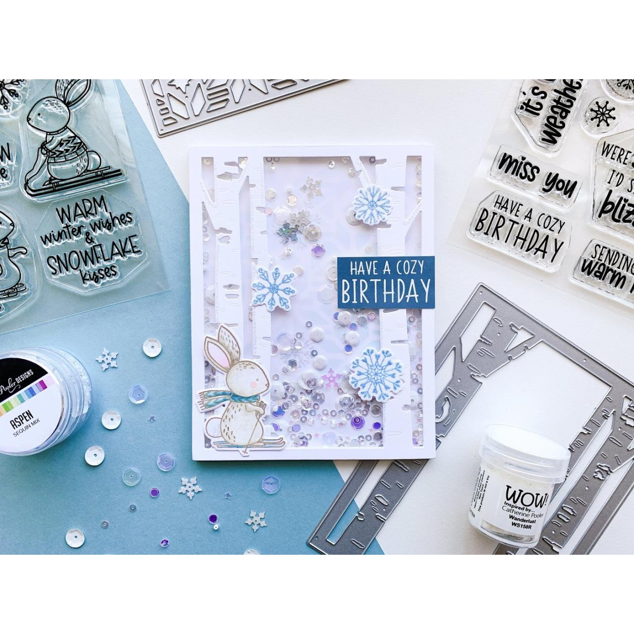 Bunny Slopes, Catherine Pooler Clear Stamps - 819447028498