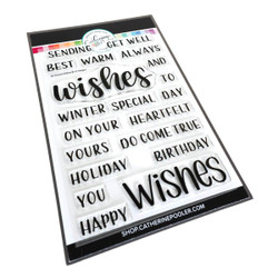 All Around Wishes Sentiments, Catherine Pooler Clear Stamps - 819447028542