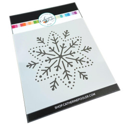 Embroidered Snowflake, Catherine Pooler Stencils - 819447029617