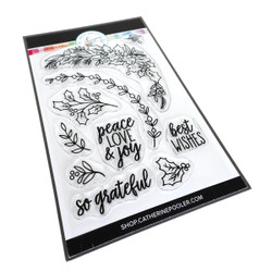 Peace Love & Holly, Catherine Pooler Clear Stamps - 819447028559
