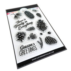 Pinecone Greetings, Catherine Pooler Clear Stamps - 819447028566