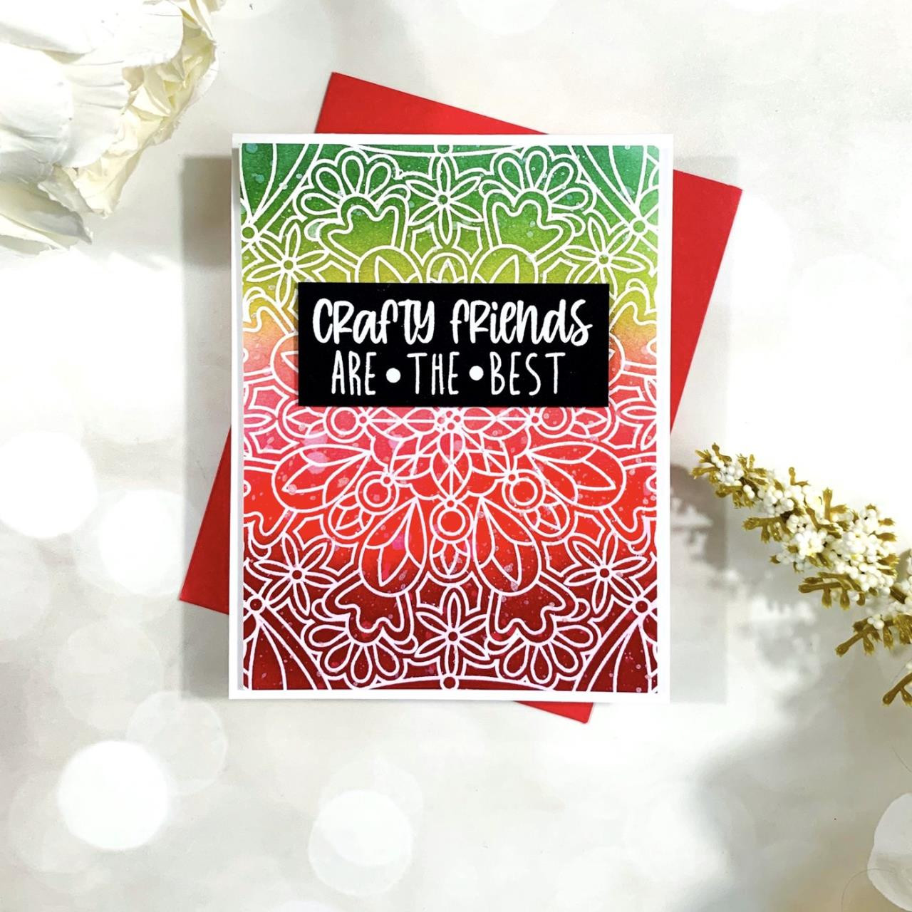 Crafty Friends Sentiments, Catherine Pooler Clear Stamps - 819447029235