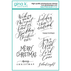 Handlettered Holiday, Gina K Designs Clear Stamps -