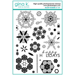 Holiday Hexagons, Gina K Designs Clear Stamps -